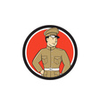 World War One British Officer Standing Circle vector image vector image