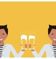 Man with a Glass of Beer vector image