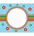 floral and decorative rainbow frame vector image