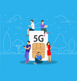 5g technology concept vector image vector image