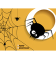 Abstract background for Halloween with spiders vector image