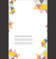 abstract geometric design background template 6 vector image vector image
