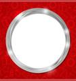 abstract glow silver circle frame christmas vector image