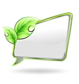 banner with green leaf vector image vector image