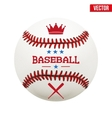 baseball leather ball vector image vector image