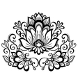 beautiful decorative flower with leaves