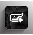 black cleaner icon vacuum symbol electric vector image