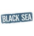 black sea sign or stamp vector image vector image