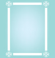 blue background with white frame vector image vector image