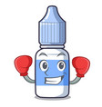 boxing eye drops small bottle character vector image vector image