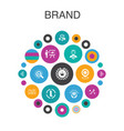 brand infographic circle concept smart ui vector image vector image