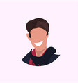 casual man face avatar business man smiling male vector image vector image