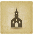 christian church vintage background vector image vector image