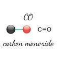 CO carbon monoxide molecule vector image vector image