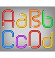 Color pencil alphabet style vector image