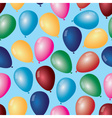 colorful balloons with helium pattern eps10 vector image vector image