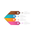 colorful infographic for your business vector image