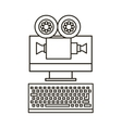 Computer device icon vector image