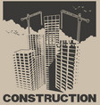 construction industry poster vector image vector image
