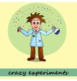 crazy experiments chemist vector image vector image