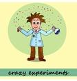 crazy experiments chemist vector image