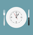 dinner time flat design vector image