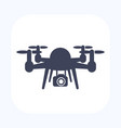 drone with camera icon vector image