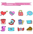 Element valentine day collection art vector image vector image