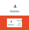 flat rose logo and visiting card template vector image