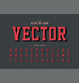 font and shadow alphabet typeface and number vector image vector image