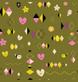 funky retro style seamless pattern vector image