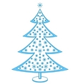 furtree with snowflakes vector image vector image
