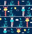 giraffe and zebra seamless pattern print design vector image vector image