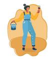girl painter profession paint job designer vector image
