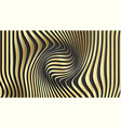 gold abstract stripe pattern background optical vector image vector image