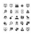 Hacker Black Icons Set vector image vector image