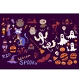 Halloween set of scary elements for holidays vector image vector image
