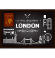 Hand drawn London on chalkboard vector image