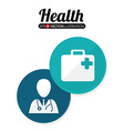 Health care design vector image vector image