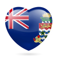 Heart icon of Cayman Islands vector image