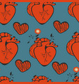 human heart patterns vector image vector image