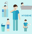 Hygiene infographic elements vector image vector image