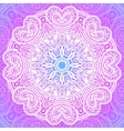 Indian ornament mandala in pink vector image vector image