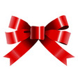 isolated tied ribbon vector image vector image