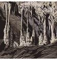karst cave stalactite stalagmite vector image