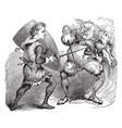 knight battling troll vintage vector image vector image