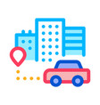 machine location icon outline vector image vector image