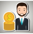 man currency money dollar vector image