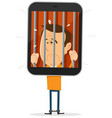 mobile phone prisoner vector image