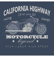 Motorcycle Racing Typography California Highway vector image vector image
